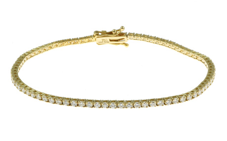 Armband 750/- Gelbgold mit Diamanten