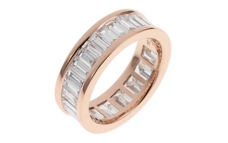 Ring 750/- Rotgold mit Diamanten
