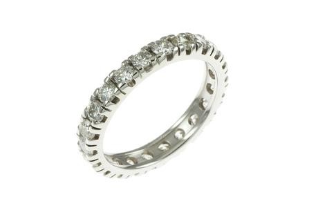 Memoire Ring 750/- Weißgold mit Diamanten