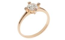 Ring 750/- Rotgold mit Diamanten inkl. IGI Gutachten