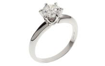 Ring 750/- Weißgold mit Diamant inkl. GIA Gutachten