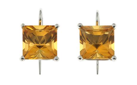 Ohrschmuck 750/- Weißgold mit Citrinen
