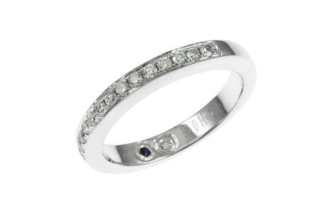 Ring 750/- Weißgold mit Diamanten und Saphir