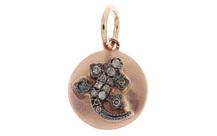 Anhänger Eidechse 750/- Roségold mit braunen Diamanten