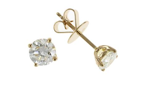 Ohrstecker 750/- Gelbgold mit Diamanten