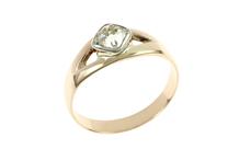 Ring 585/- Weißgold und Rotgold mit Diamant im Altschliff