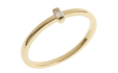 Ring 750/- Gelbgold mit Diamant