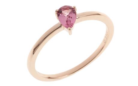 Ring 585/- Roségold mit Turmalin