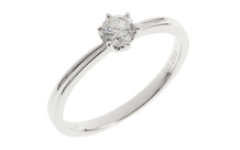 Ring 750/- Weißgold mit Diamant