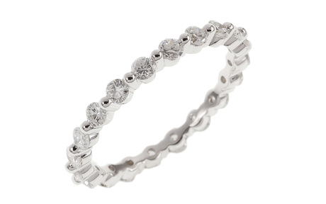 Ring 750/- Weißgold mit Diamanten