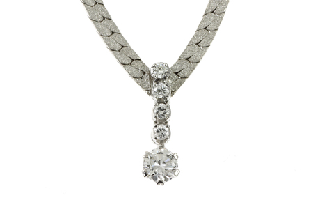Collier 750/- Weißgold mit Diamanten