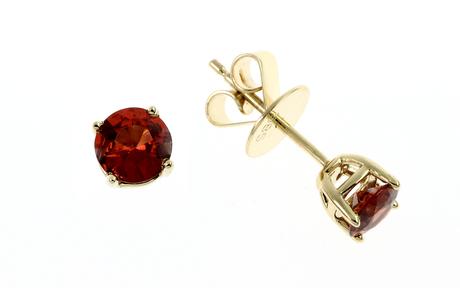 Ohrstecker 585/- Gelbgold mit Granaten