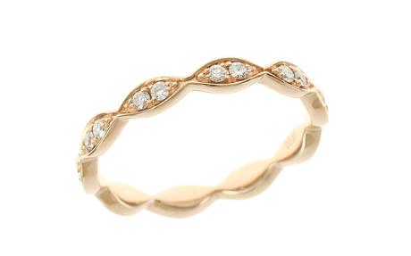 Ring 750/- Roségold mit Diamanten