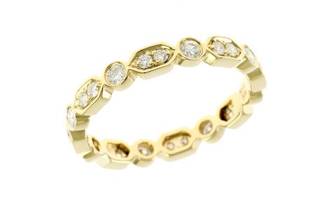 Ring 750/- Gelbgold mit Diamanten