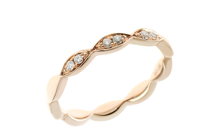 Ring 585/- Roségold mit Diamanten