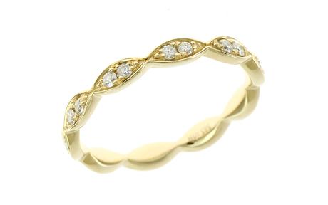 Ring 585/- Gelbgold mit Diamanten