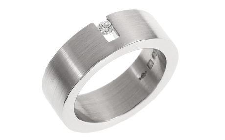 Niessing Ring 950/- Platin mit Diamant