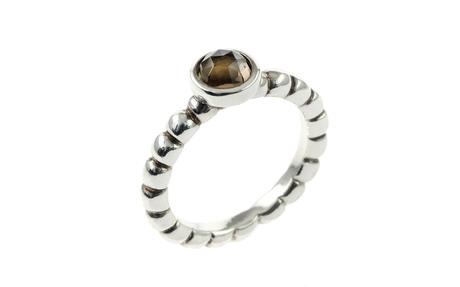 PANDORA Ring 925/- Sterlingsilber mit Rauchquarz