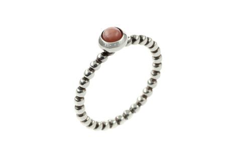 PANDORA Ring 925/- Sterlingsilber mit rosa Opal-Cabochon
