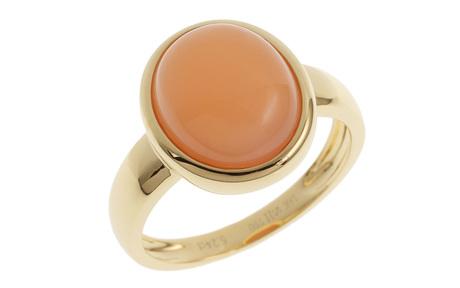 Ring 750/- Gelbgold mit Mondstein