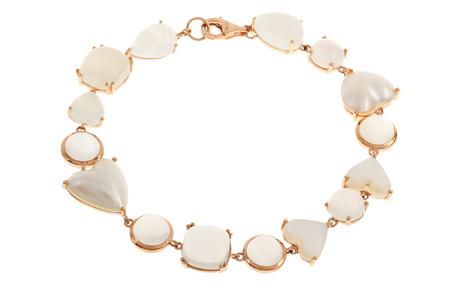 Armband 750/- Rotgold mit Mondsteinen und Mabe-Perlen