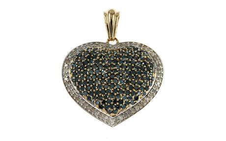 Anhänger Herz 585/- Gelbgold mit Diamanten