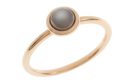 Ring 750/- Roségold mit Mondstein