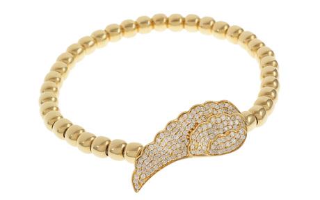 Flexband 750/- Gelbgold mit Diamanten
