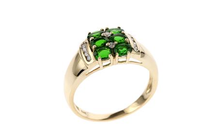 Ring 585/- Gelbgold mit Diamanten und Turmalinen