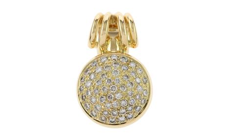 Anhänger 750/- Gelbgold mit Diamanten