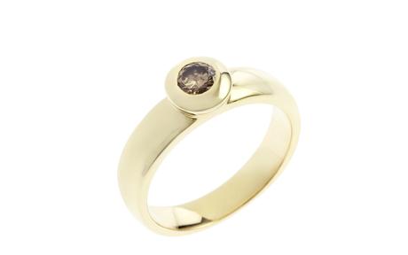 Ring 585/- Gelbgold mit Diamant