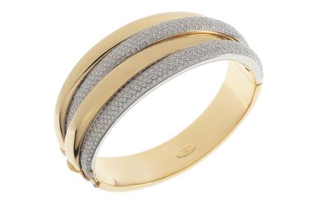 Wempe Armreif 750/- Gelbgold und Weißgold mit Diamanten inkl. Zertifikat