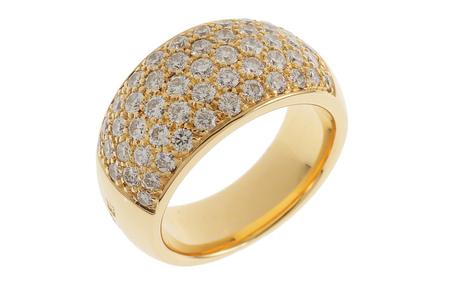 Wempe Ring 750/- Gelbgold mit Diamanten inkl. Original Schmuckschatulle