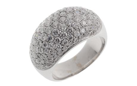 Wempe Ring 750/- Weißgold mit Diamanten inkl. Original Schmuckschatulle