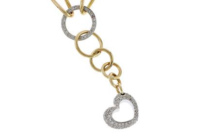 Collier 750/- Gelbgold und Weißgold mit Diamanten