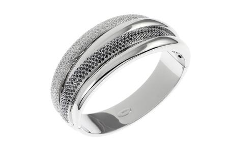 Wempe Armreif 750/- Weißgold mit weißen und schwarzen Diamanten