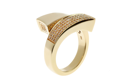 Jette Joop Ring 750/- Gelbgold mit Diamanten