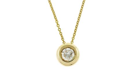 Solitär Collier 750/- Gelbgold mit Diamant