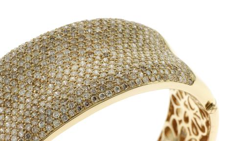 Armreif 750/- Gelbgold mit Diamanten