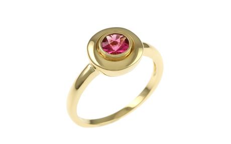 Ring 750/- Gelbgold mit Turmalin