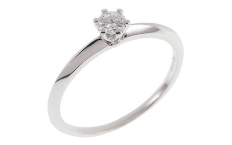 Solitär Ring 750/- Weißgold mit Diamant IGI zertifiziert
