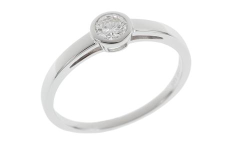 Solitär Ring 585/- Weißgold mit Diamant IGI zertifiziert