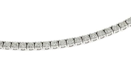 Riviere Armband 750/- Weißgold mit Diamanten