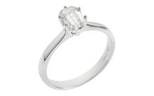 Ring 750/- Weißgold mit Diamant inkl. HRD Zertifikat