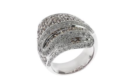 Ring 585/- Weißgold mit Diamanten