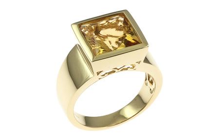 Ring 750/- Gelbgold mit Citrin