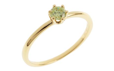 Ring 750/- Gelbgold mit Peridot
