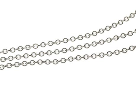 Dreireihige Kette 585/- Weißgold