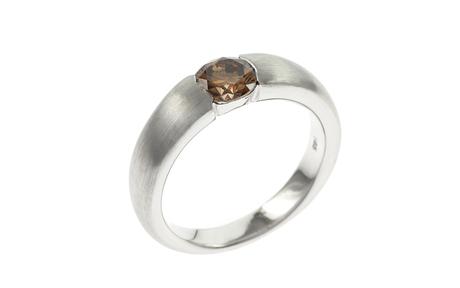 Ring 585/- Weißgold mit Diamant