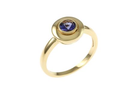 Ring 750/- Gelbgold mit Iolith